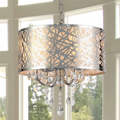 Warehouse Of Tiffany Abstract 4-light Crystal Chandelier