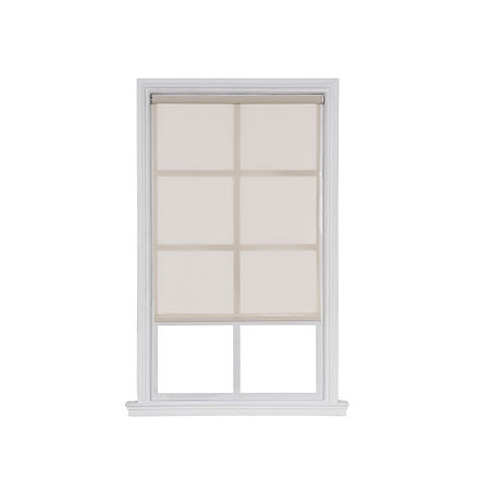 JCPenney Home Solar Screen Cut-To-Width Cordless Roller Shade, One Size , Beige