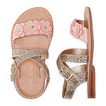 Okie Dokie Shine Girls Flat Sandals - Toddler