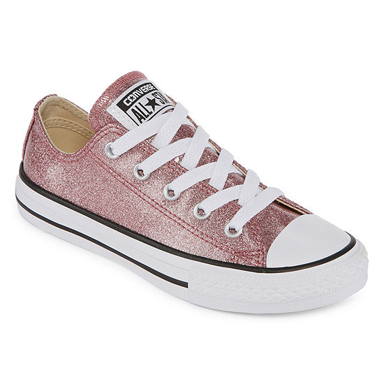Converse Little Girls' Chuck Taylor All Star Ox Glitter Casual Sneakers