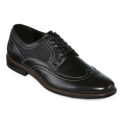 Stafford Mens John Oxford Shoes Lace-up Wing Tip