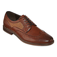f3df2968b7c2 Stafford Mens John Oxford Shoes Lace-up Wing Tip