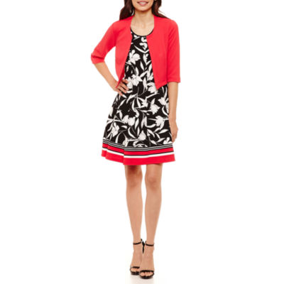 Robbie Bee Sleeveless Jacket Dress-Petites