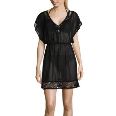 Arizona Chiffon Swimsuit Cover-Up Dress-Juniors