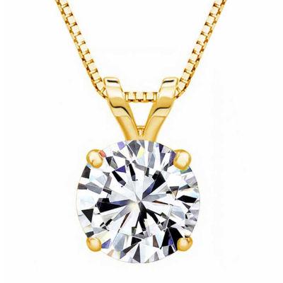 14K Gold Pendant Necklace featuring Swarovski Zirconia