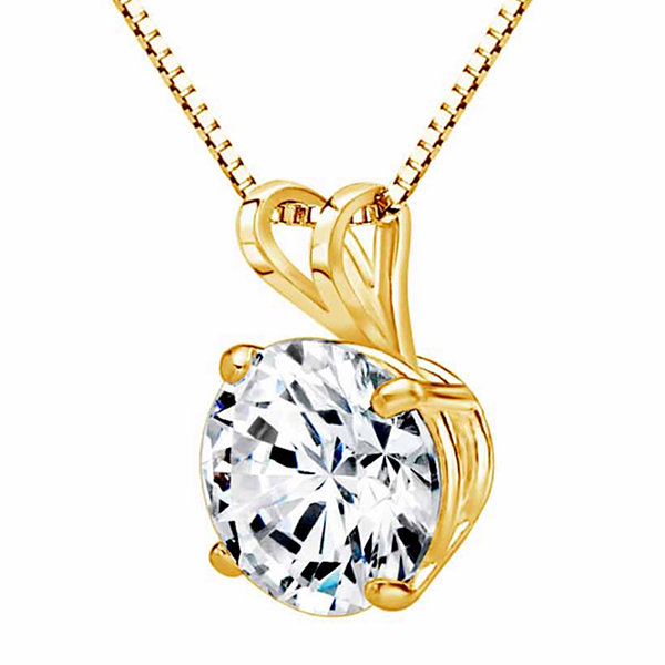 Swarovski Womens White Zirconia 14K Gold Pendant Necklace