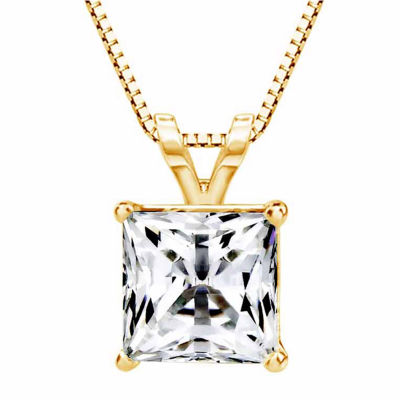 14K Gold Pendant Necklace featuring Swarovski Zirconia