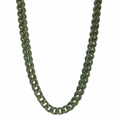 Stainless Steel Solid Wheat 24 Inch Chain Necklace