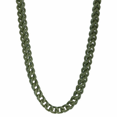 Stainless Steel 24 Inch Solid Wheat Chain Necklace
