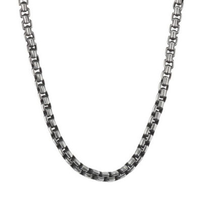 Stainless Steel 22 Inch Solid Box Chain Necklace