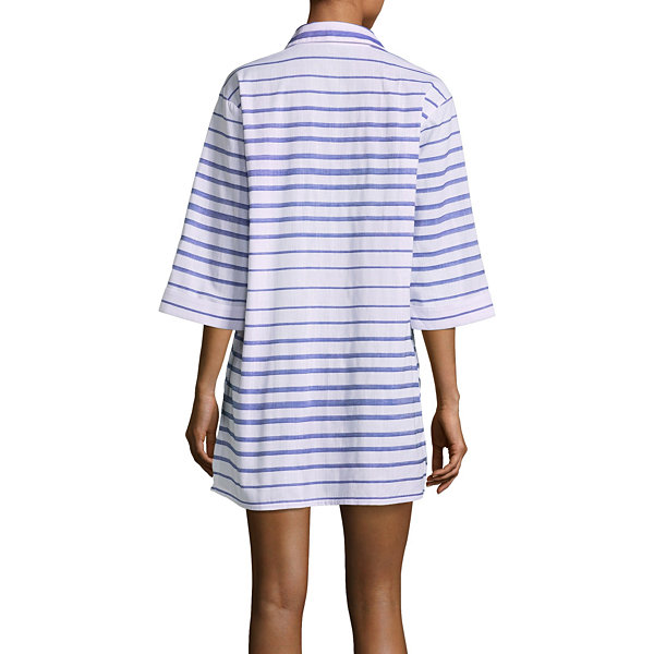 Wearabouts Stripe Woven Swimsuit Cover-Up Dress