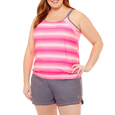 Free Country Blouson Swimsuit Top-Plus