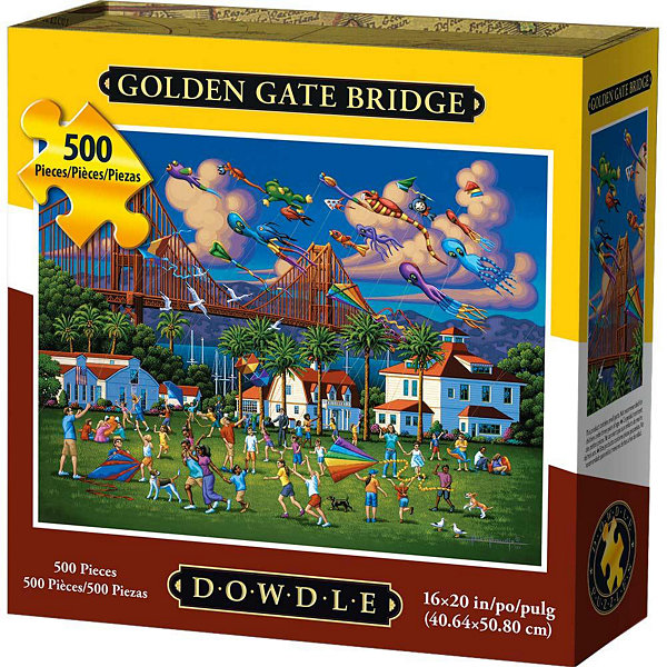 Dowdle Folk Art Golden Gate Bridge 500-pc Puzzle