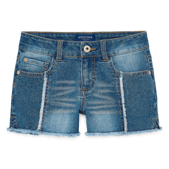 Arizona Denim Shortie Shorts - Girls 7-16 and Plus