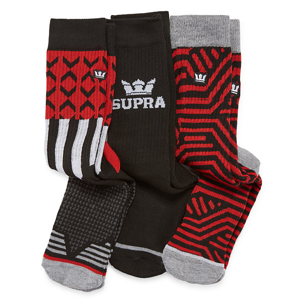 Graphic Print Crew Socks - Boys