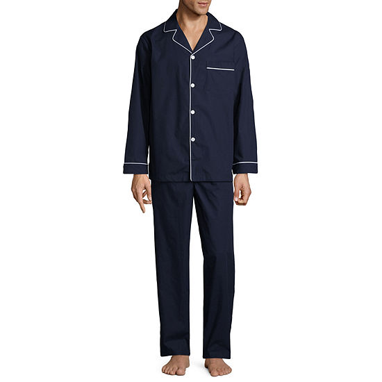 Stafford® Men's  Broadcloth Woven Pajama Set