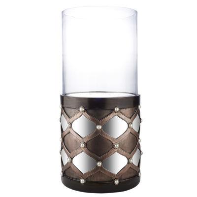 "Ore International 22"" Arabesque Mirror Floor Candleholder"