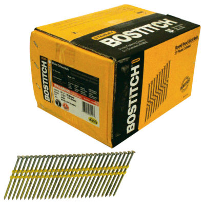 Bostitch Stanley RH-S12D131HDG 3-1/4IN Smooth Shank 21¡ Stick Framing Nails 4000 Count