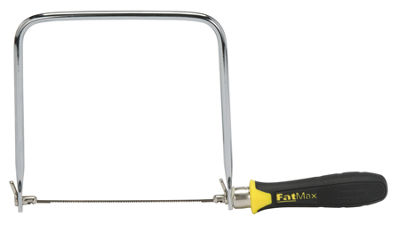 "Stanley Hand Tools 15-106A 6-3/4"" Coping Saw with Extra Blades"