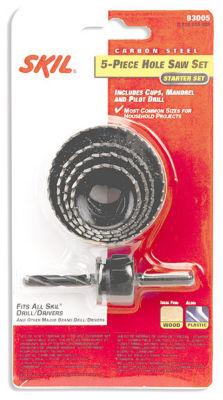 Skil 93005 5-Piece Carbon Steel Hole Saw Set
