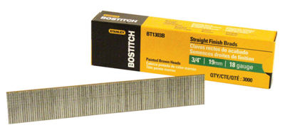 "Bostitch Stanley BT1303B 3/4"" Brad Nails 3;000 Count"""