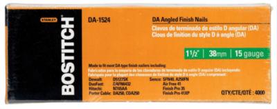 "Bostitch Stanley DA-1524 1-1/2"" DA Angled Finish Nails 4;000 Count"""