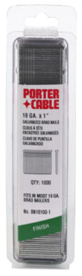 "Porter Cable PBN18100-1 1"" 18 Gauge Brad Nails 1;000 Count"""