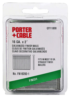 "Porter Cable PFN16200-1 2"" Finish Nails 1000 Count"