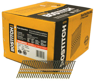 Bostitch Stanley RH-S8D113EP 2-3/8IN Smooth Shank21¡ Plastic Collated Stick Framing Nail
