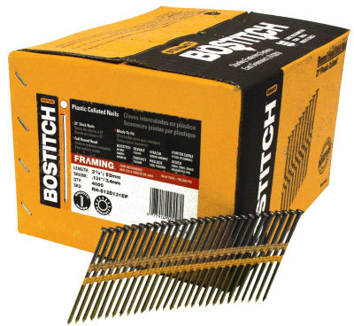 "Bostitch Stanley RH-S12D131EP 3-1/4"" Smooth Shank 21 Plastic Collated Stick Framing Nail"