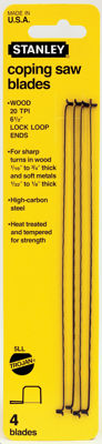"Stanley Hand Tools 15-059 6-1/2"" 20 TPI Coping Saw Blades"
