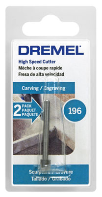 Dremel 196-2 7/32IN High Speed Cutter Impeller Style Rotary Tool Bit 2 Ct