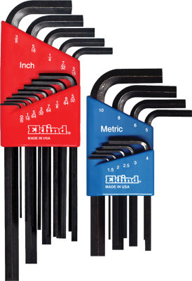 Eklind 10022 Long & Short Series Hex-L Key Set Combo Pack 22 Count