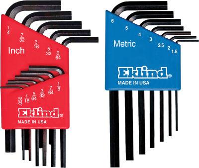 Eklind 10518 Short Series Hex-L Key Set Combo Pack 18 Count