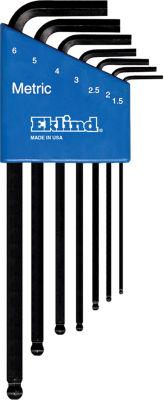 Eklind 13607 Long Series Ball-Hex-L Key Set 7 Count
