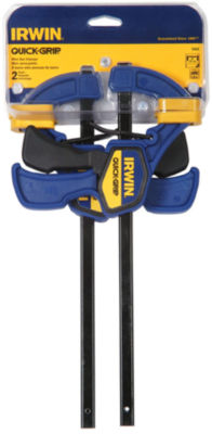 """Irwin Quick Grip 5462 6"""" Quick-Grip¨ One-Handed Mini Bar Clamp 2 Count"""""""