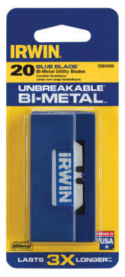 Irwin 2084200 Bi-Metal Blue Blades 20 Count