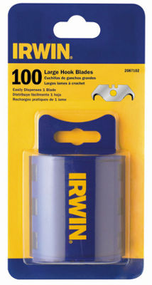Irwin 2087102 Carbon Hook Utility Blades 100 Count