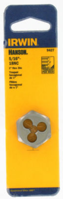 "Irwin Hanson 9427 1"" 5/16-18Nc Hexagon Machine Screw Die"