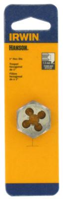 "Irwin Hanson 9742 1"" 12Mm-1.25 Hexagon Metric Die"