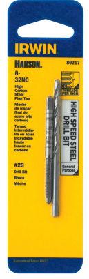 Irwin Hanson 80217 #29 8-32Nc High Speed Steel Drill Bit & Tap