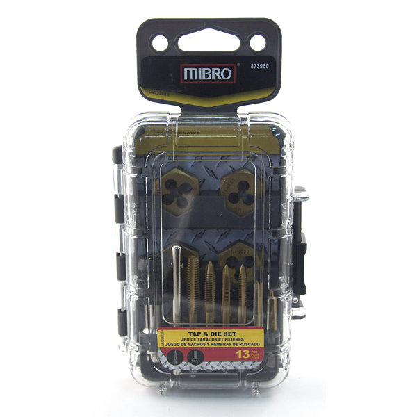 Mibro 873960 Tap & Die 13 Piece Set