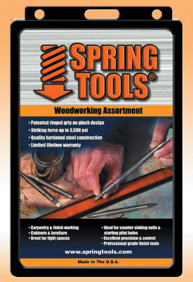 Spring Tools WWA1105 5 Piece Center Punch  Nail Setter and Wood Chisel Set