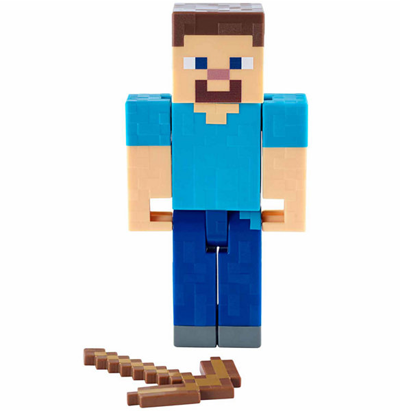 Minecraft Steve with Pickaxe Basic FIgure