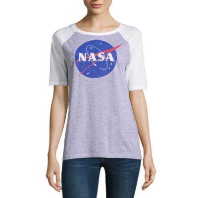 Short Sleeve NASA Graphic T-Shirt- Juniors