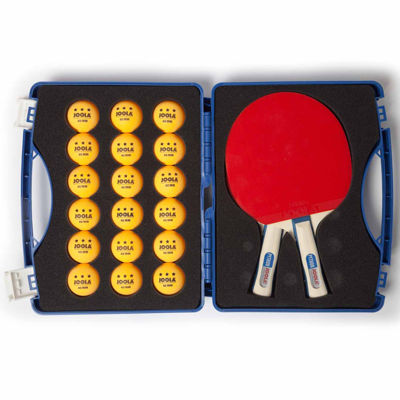 JOOLA Competition Table Tennis Tour Case (IncludesTwo Python Rackets and 18 3-Star Balls)