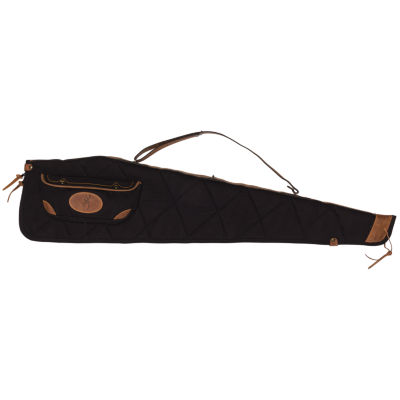"""Browning Lona Case - 48""""; Canvas/Leather Rifle Case; Black/Brown"""""""