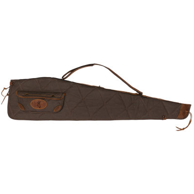 "Browning Lona Case - 48""; Canvas/Leather Rifle Case; Flint/Brown"""