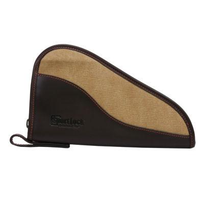 "Sportlock Handgun Case 10""; Brown Leather/Tan Canvas"""