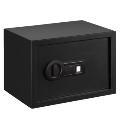 Stack-On Personal Safe Biometric Lock With Shelf Black
